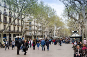 Las Ramblas city boardwalk