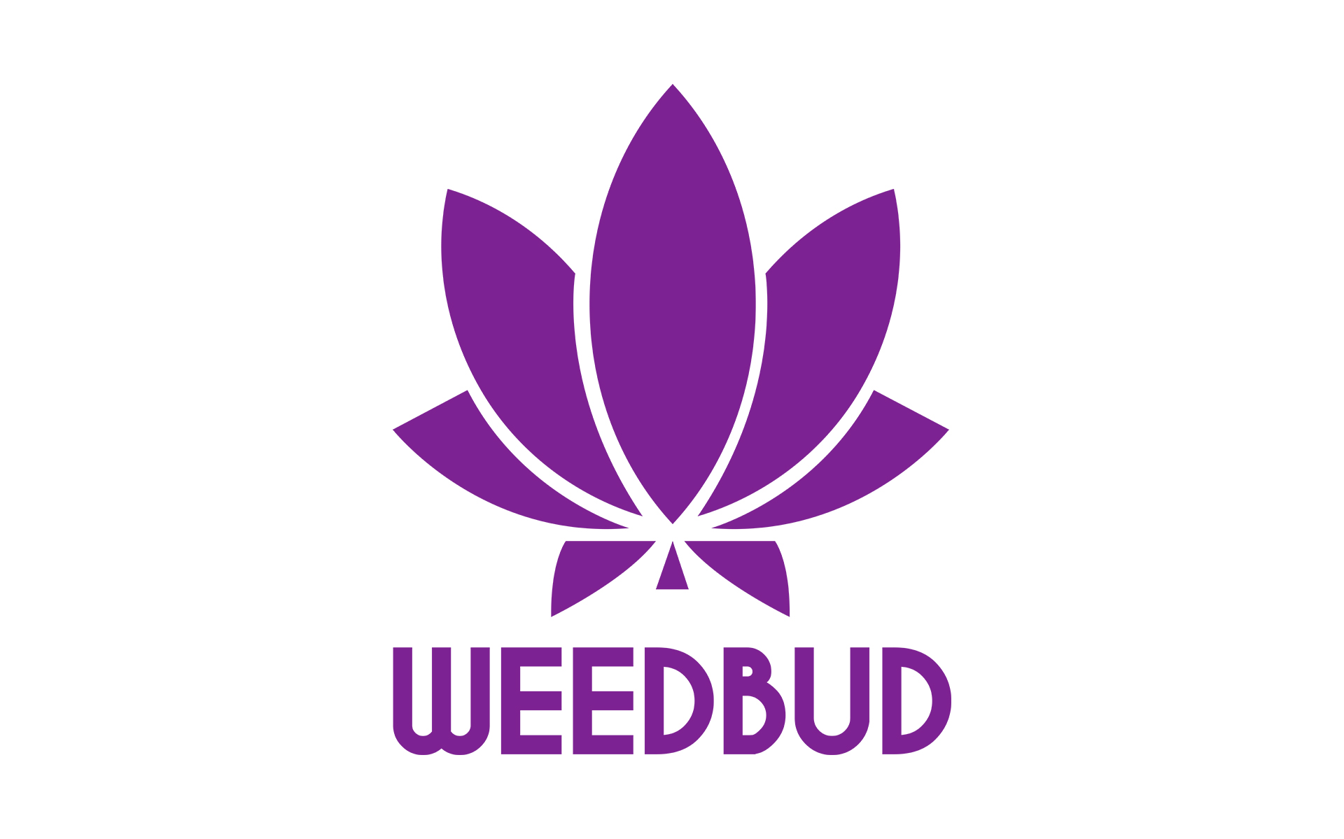 Weed Buddy Logo Purple with a Marijuana Leaf